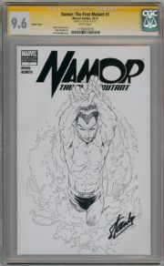 Namor The First Mutant #1 Sketch Variant CGC 9.6 Signature Series Signed Stan Lee Marvel comic book